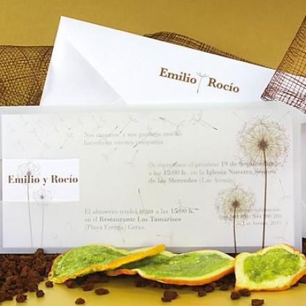 invitación flores
