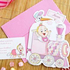 invitación viaje rosa