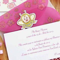 invitación abeja