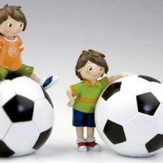 set 2 huchas futbolista