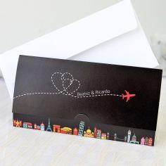 invitación billete avion NE