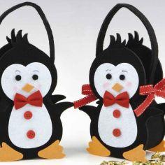 cesta pingüino