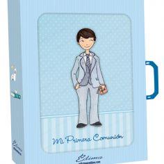 libro de firmas niño en traje