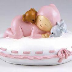 bebe durmiendo rosa