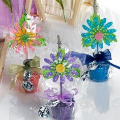 sujeta-tarjetas flor