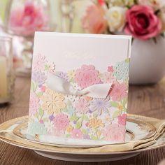 romántico flores corte láser