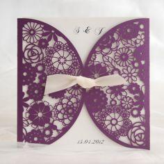 romántico púrpura corte láser