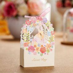 caja rosa flores
