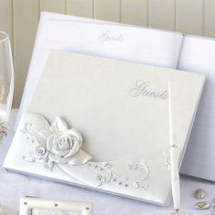 libro firmas rosas guests