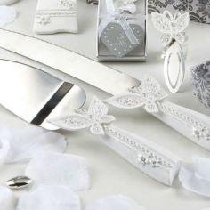 cuchillos de tarta mariposa guests