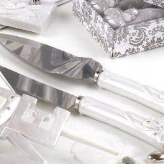 cuchillos de tarta lazo guests