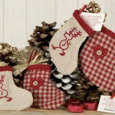 set 2 calcetines navideños