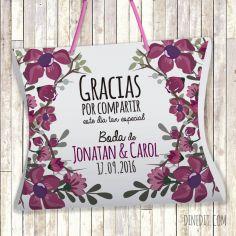estuche regalo flores personalizado