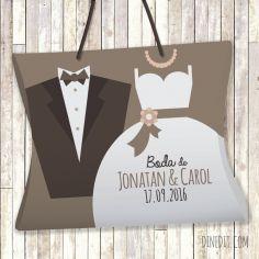estuche regalo boda personalizado