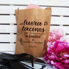 """bolsa kraft """"fuera tacones"""""""