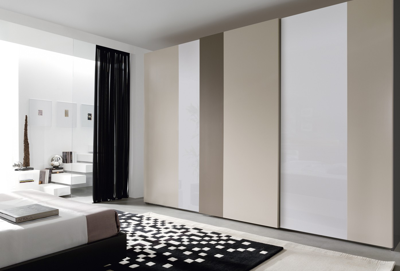 Imagenes armarios modernos nexo de piferrer built de moblec living de garcia sabat - Ajustar puertas armario ...