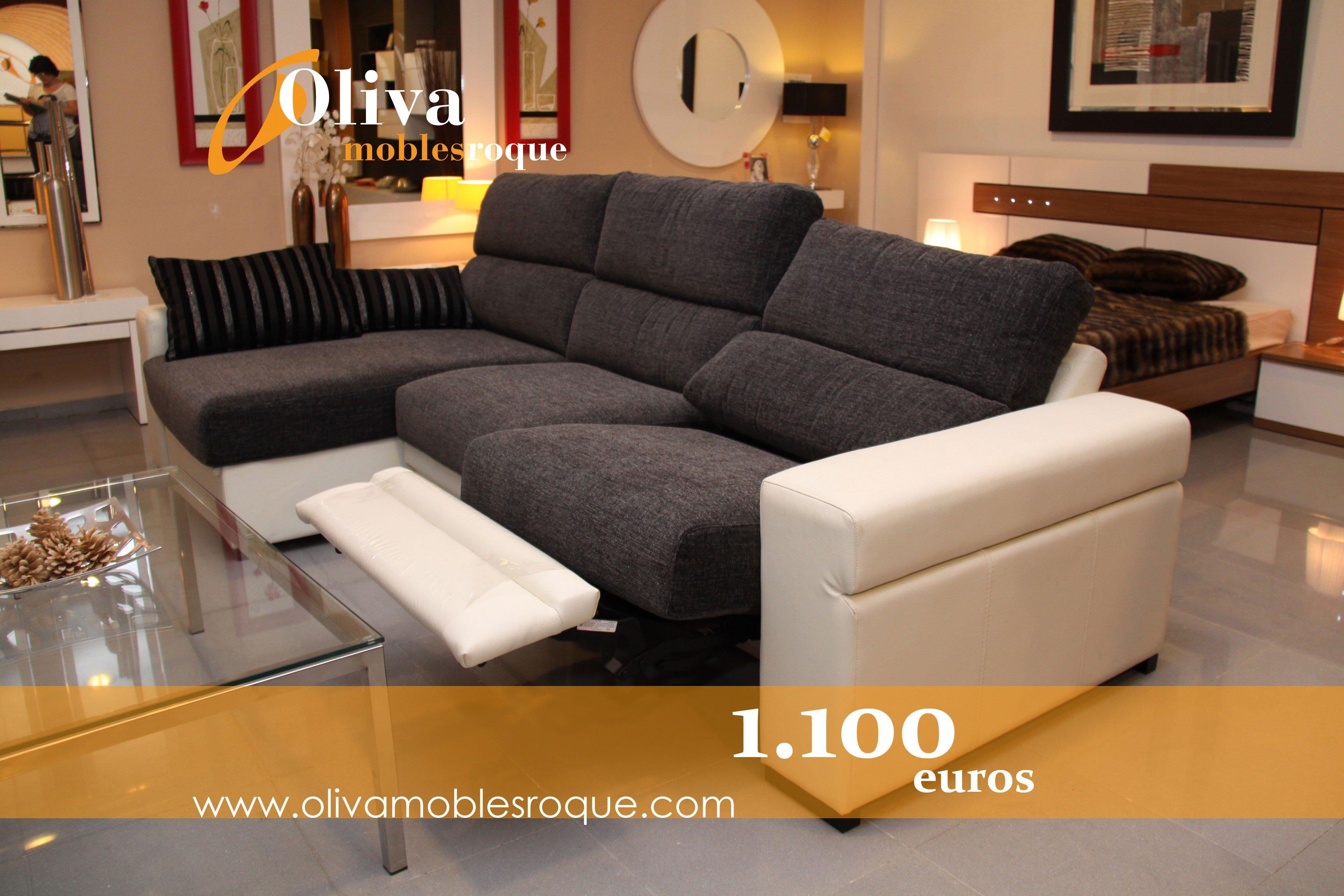 Sofa chaise longue con sistema relax de tapizados soriano - Tapizados sofas precios ...