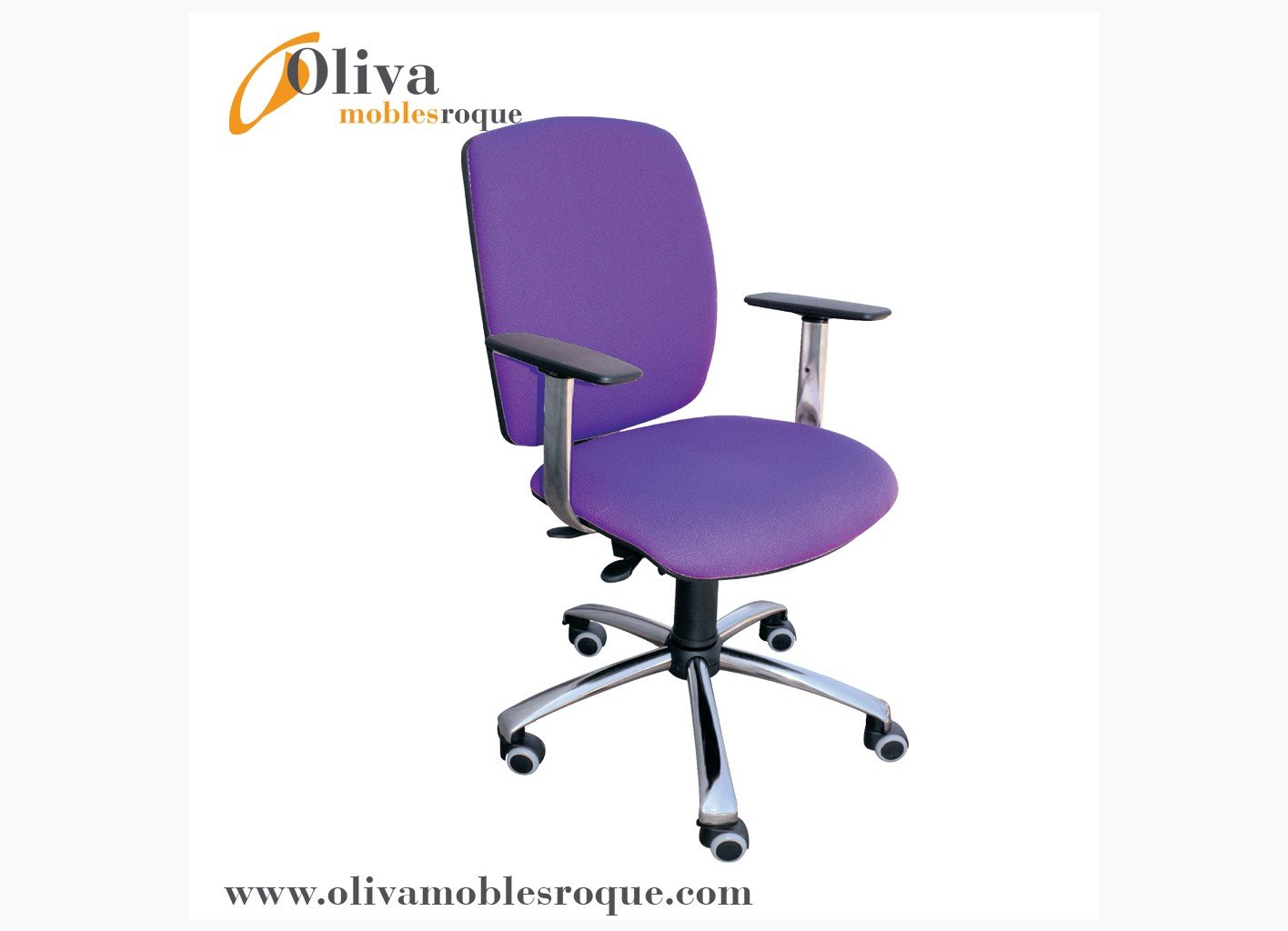 Silla oficina 236 pie cromo sillas sillas oficina y for Sillas para habitacion juvenil