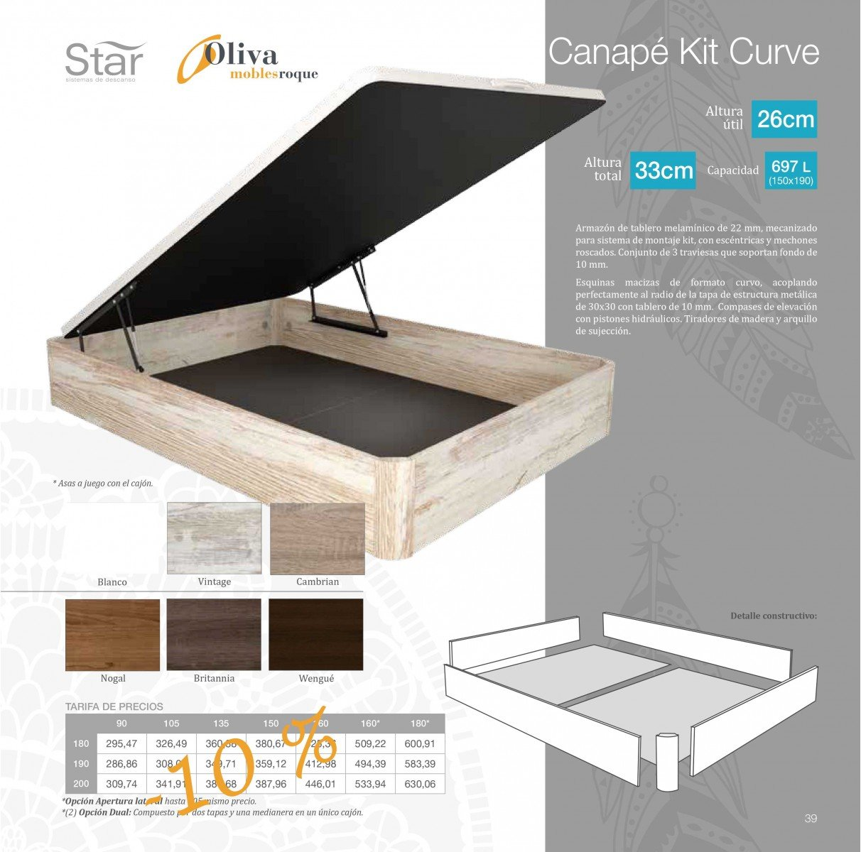 tienda online canap kit curve de star. Black Bedroom Furniture Sets. Home Design Ideas