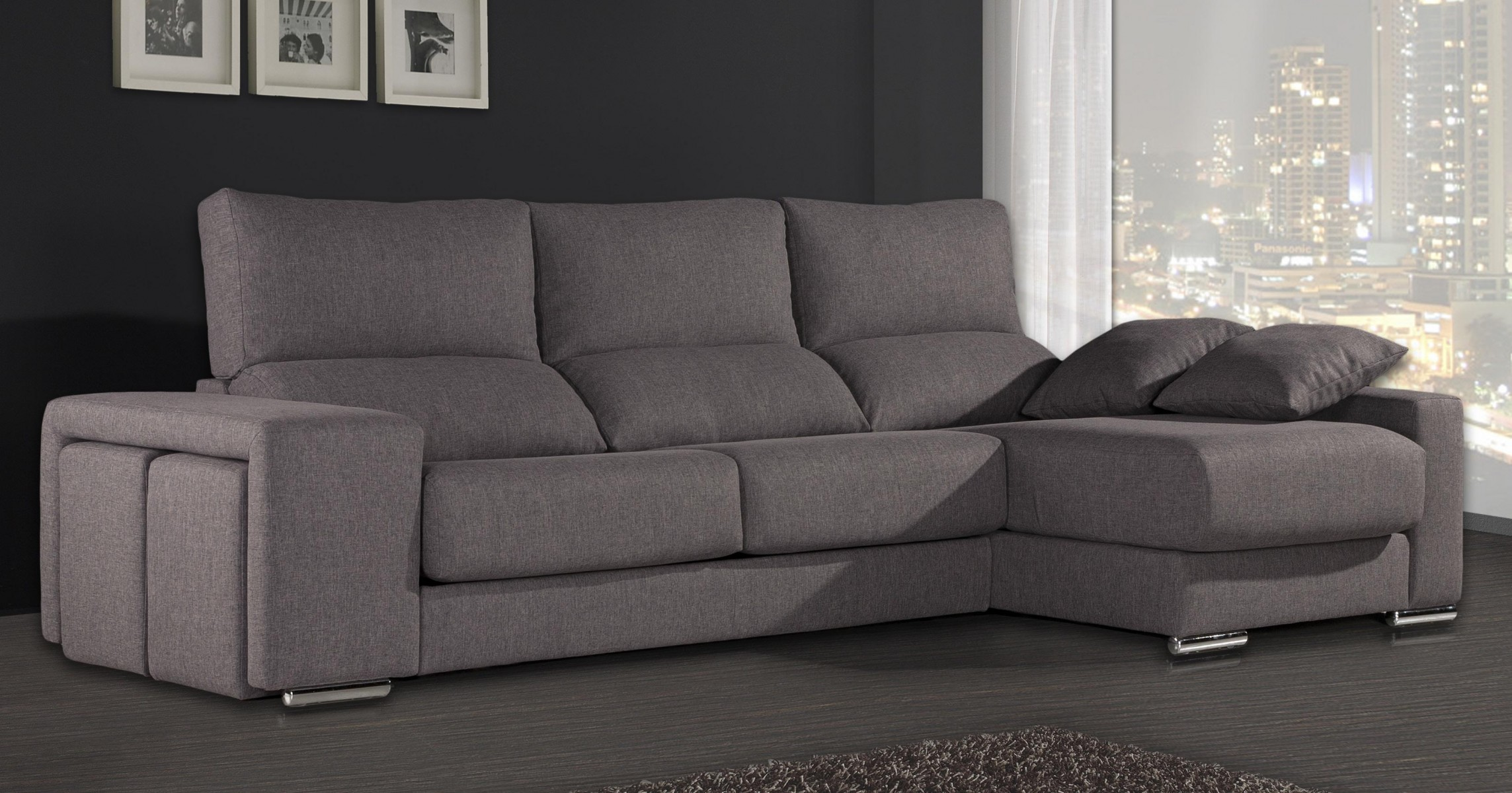 Sof s con chaise longue sof s modernos for Sofa tres plazas chaise longue