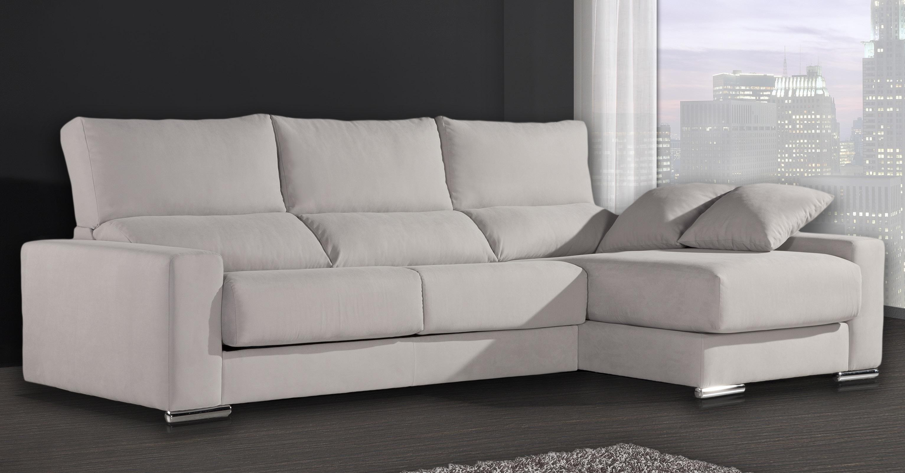 Sofas y chaise longue baratos for Sofa cheslong