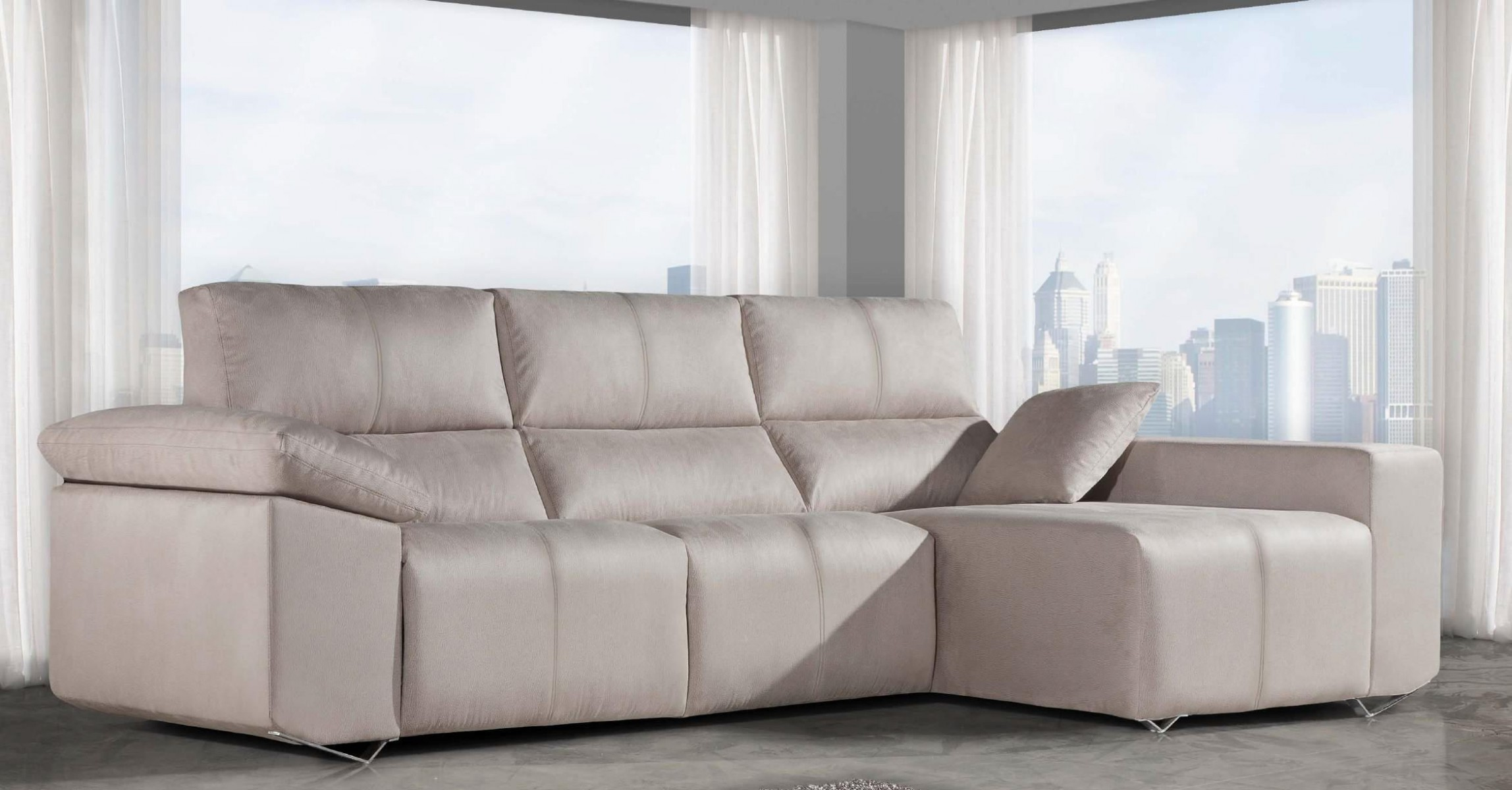Sof s con chaise longue sof s modernos - Sofa con chaise ...