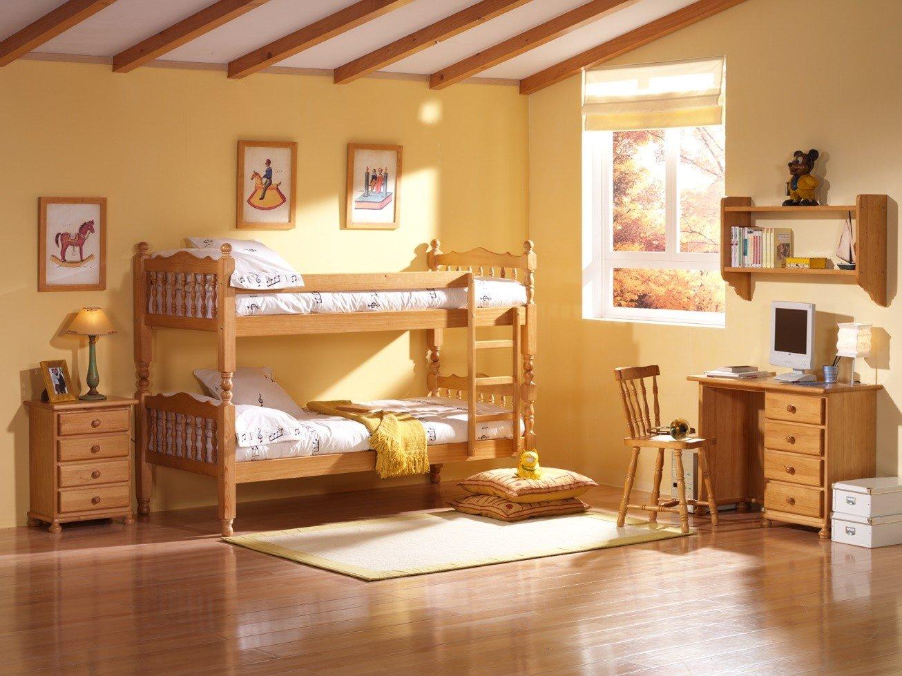 Dormitorios literas y camas abatibles for Dormitorios juveniles de madera
