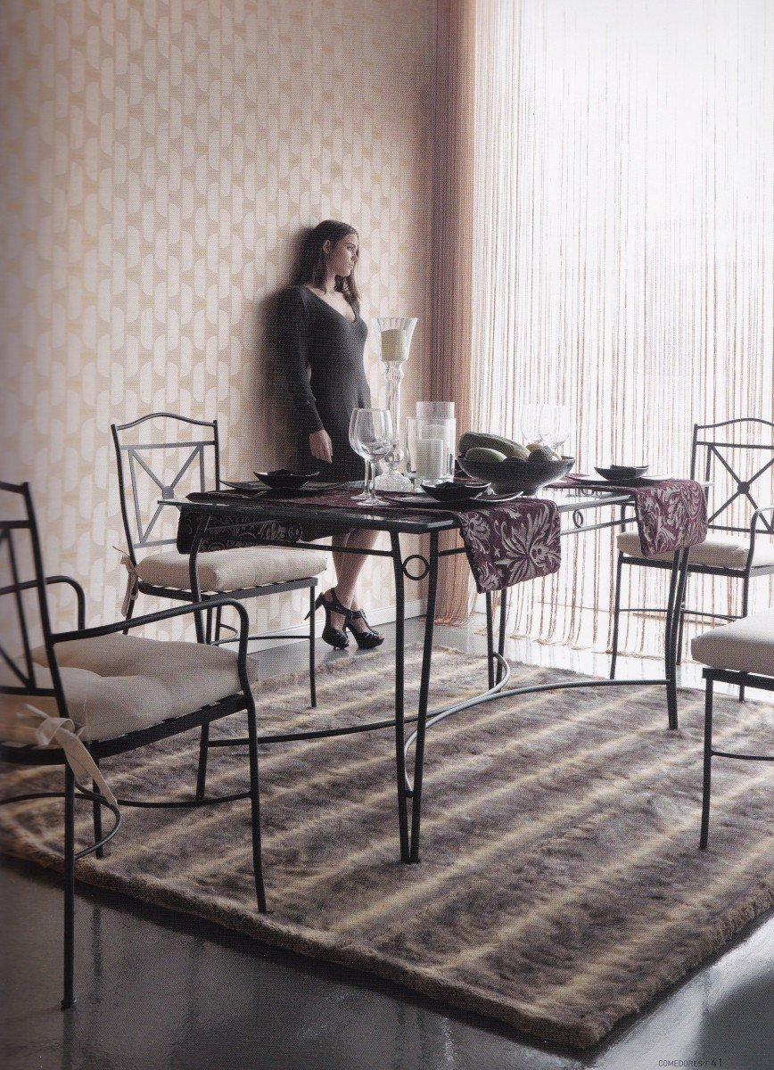 Mesa y sillas de forja tienda muebles valencia tienda for Mesas y sillas de forja