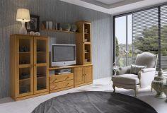 Mueble de salón de pino macizo