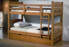 Litera de pino de 2 camas