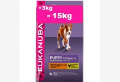 Eukanuba PUPPY medium 12+3kg= 15kg