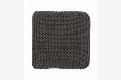 Cojin de suelo crochet gris