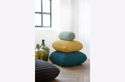 Cojin crochet amarillo