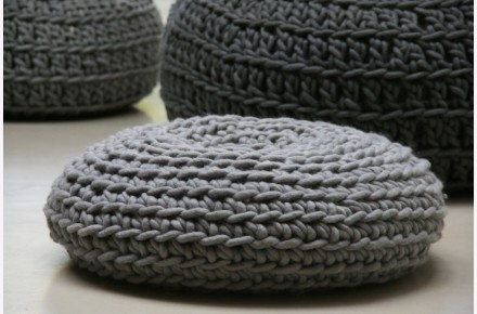 Cojín suelo lana