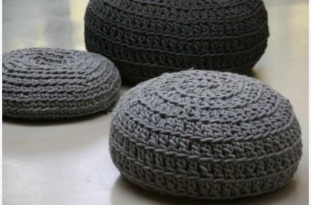 Puff crochet hecho a mano