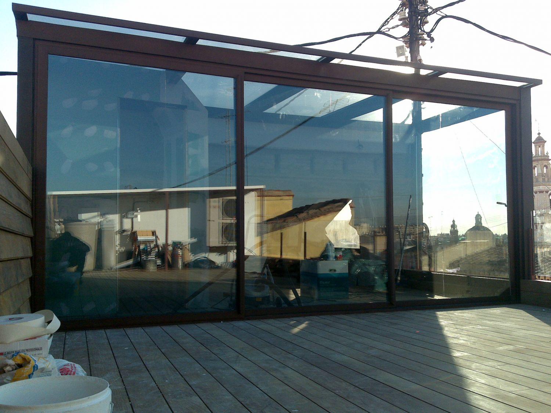 Cerramiento terraza valencia empresa de carpinteria - Cerramientos plegables de vidrio ...